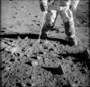 Astronaut Lunar Dust