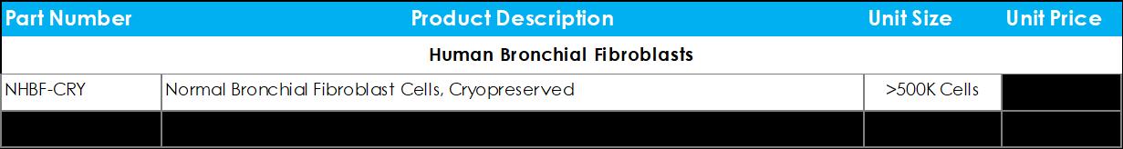 Human Bronchial Fibroblasts