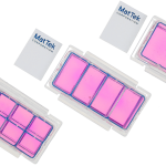 three chambered cell culture slides with coverslips in 2-well, 4-well, and 8-well formats